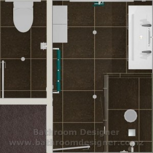 Toilet and Bathroom Design plan