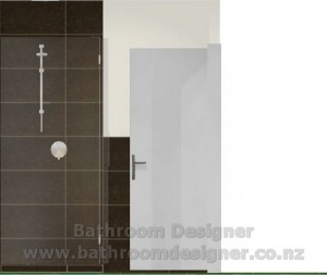 bathroom half tiled walls tiled shower south