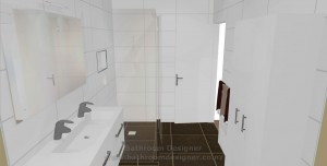 Bathroom - Tiled  Shower walls
