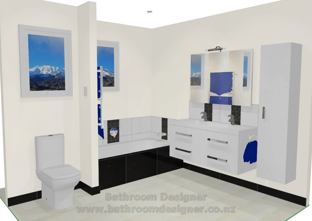 Modern bathroom design nz for Bathroom design 3d model