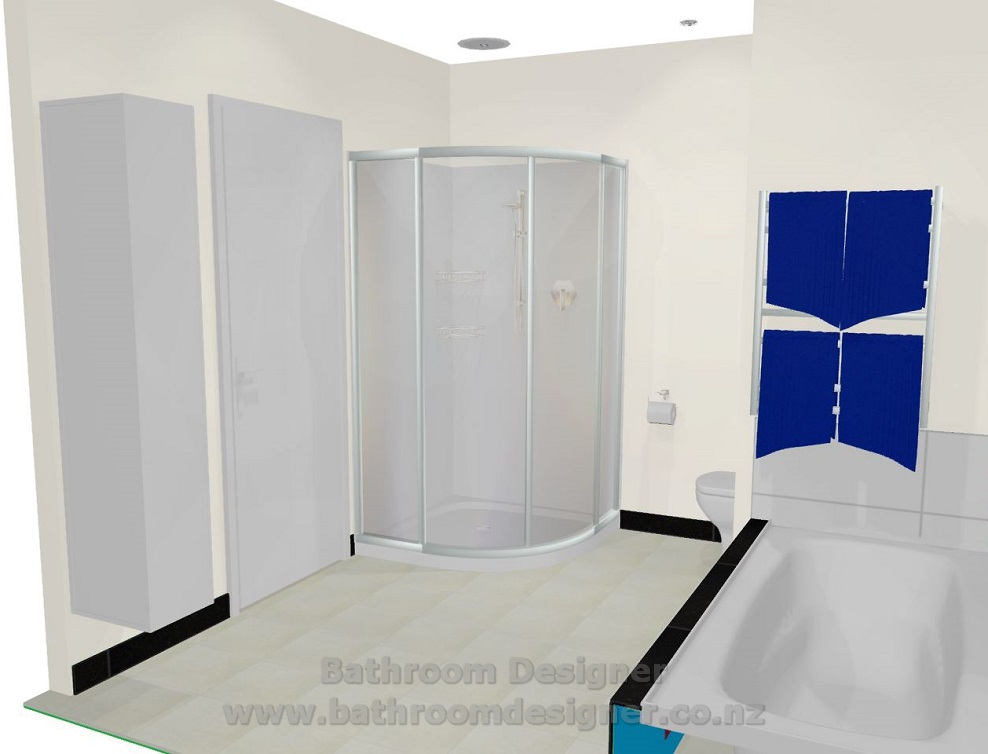 Modern Bathroom Design 3D view 2
