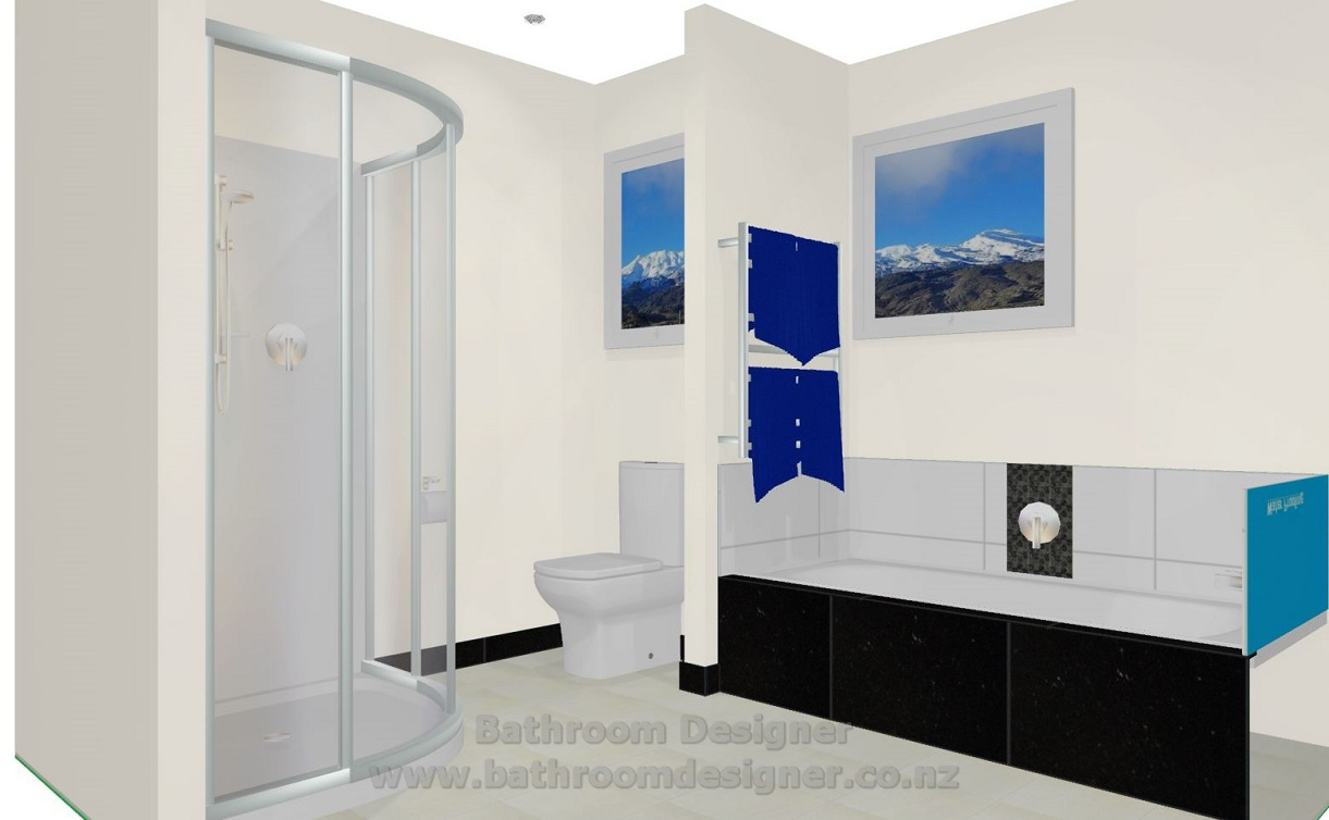 modern bathroom design 3d view 3 - Bathroom Design Ideas Nz