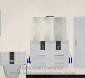 Modern Bathroom Design B Elevation