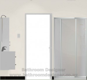 Modern Bathroom Design C Elevation