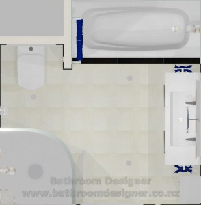 Modern Bathroom Design Plan