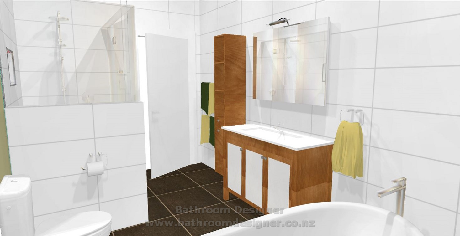 Modern Bathroom Design 3D view 3