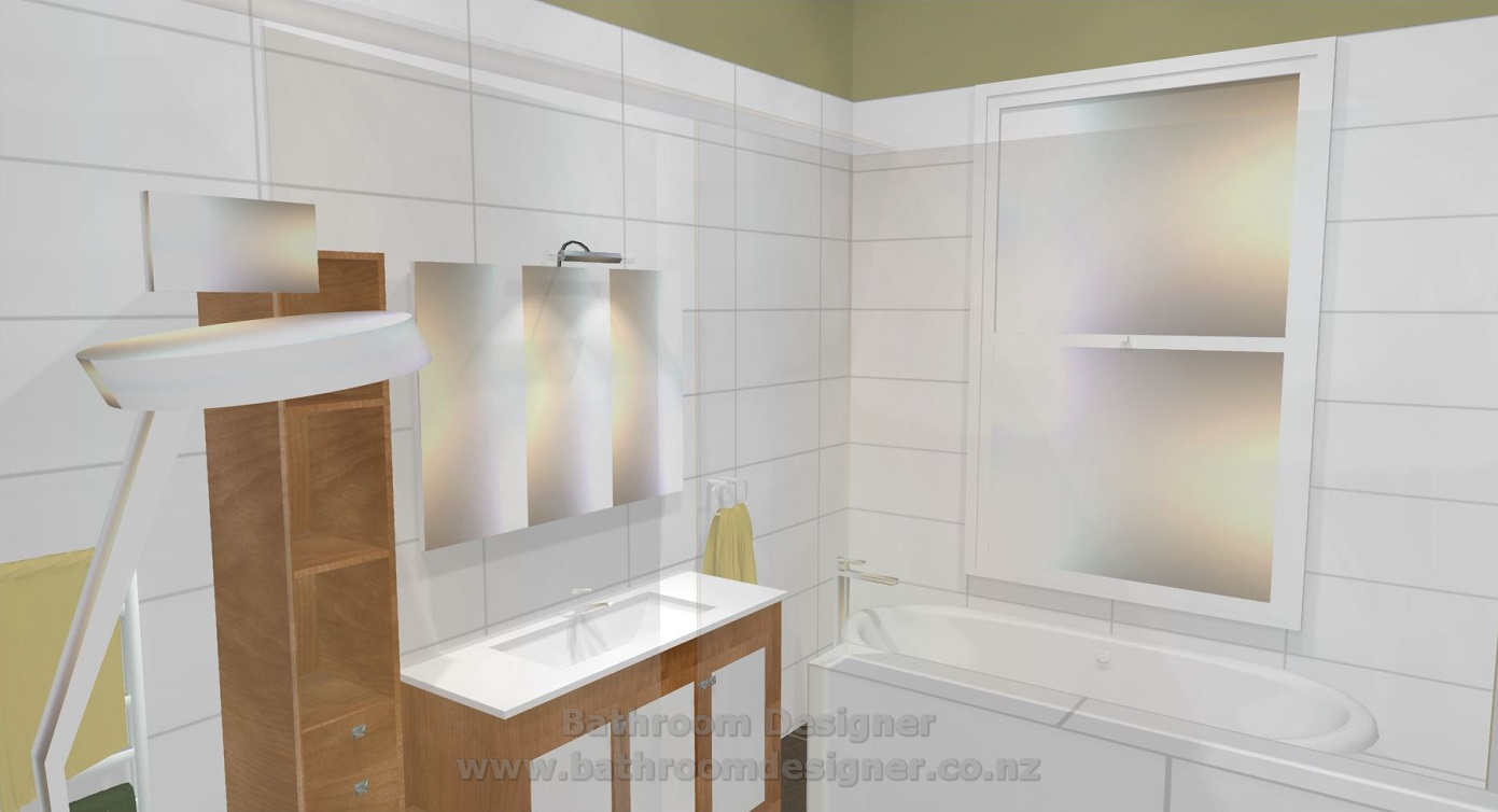 Modern Bathroom Design 3D view 4