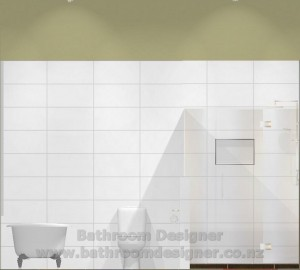 Modern Bathroom Design Elevation C