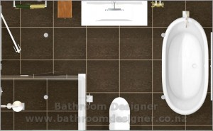Modern Bathroom Design - floor plan