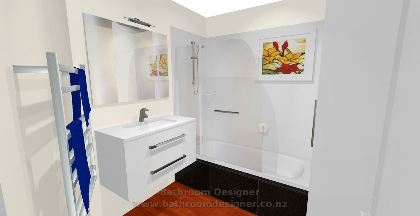 Design a bathroom 3d - Small Bathroom Design Photos 3d View 1