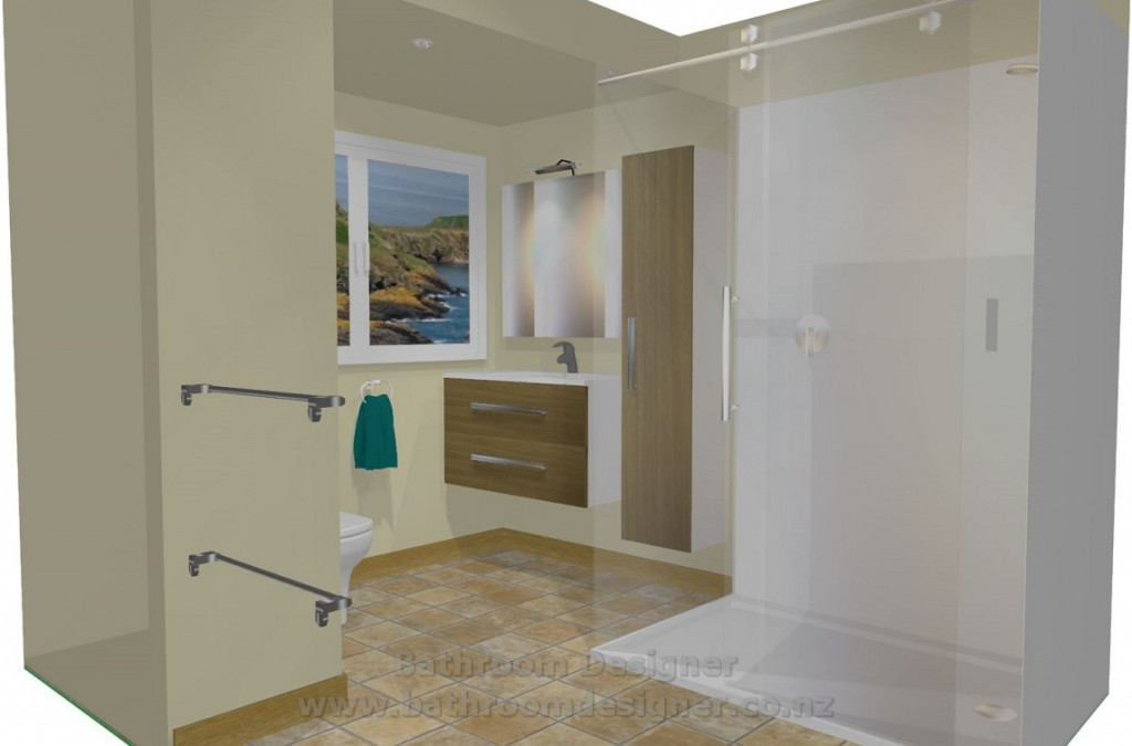 Small Bathroom 3D View 2
