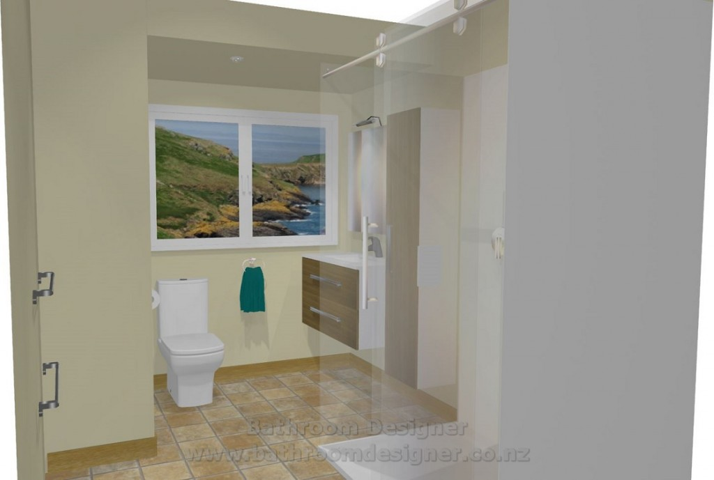 Small Bathroom 3D View 4
