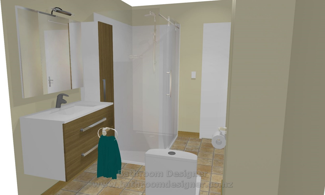Design a bathroom 3d - Small Bathroom Layout 3d View