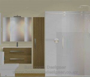 Small Bathroom Layout A Elevation