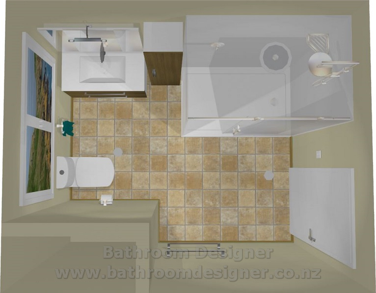 Small bathroom layout for Small bathroom designs nz