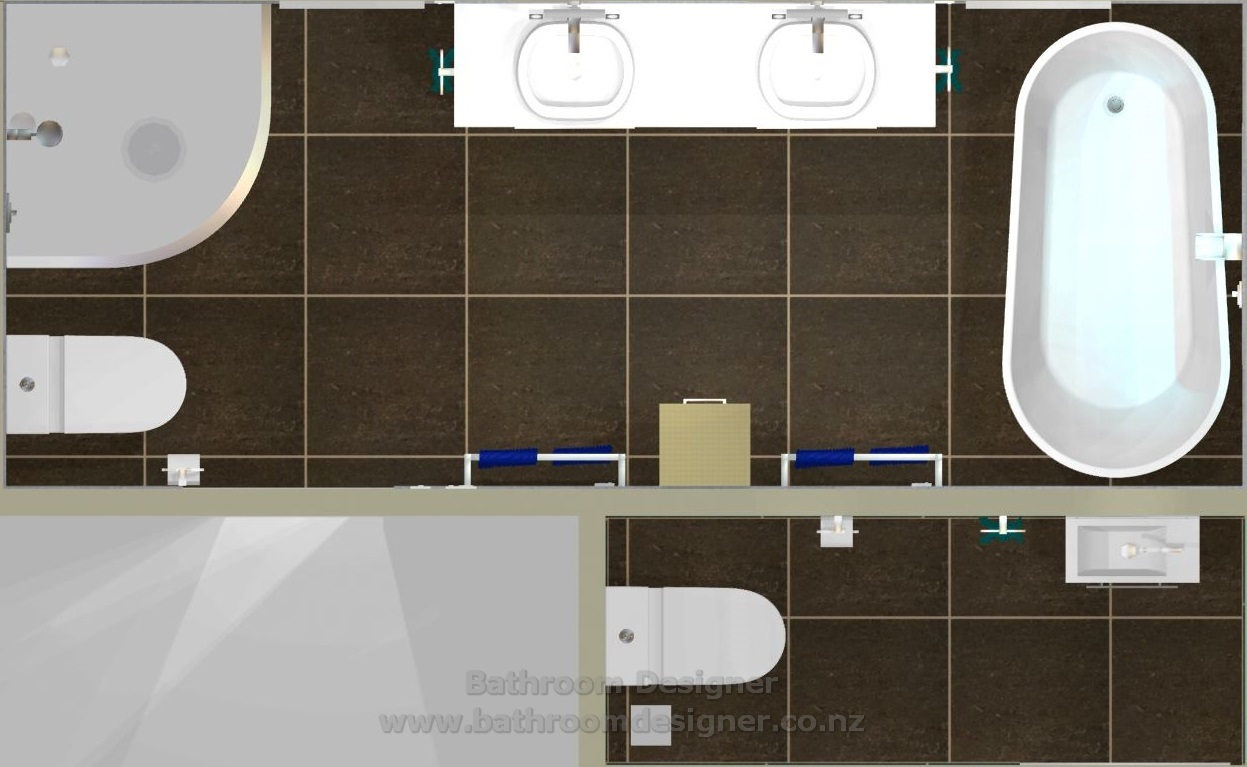Bathroom & Toilet Design Ideas - Floor Plan