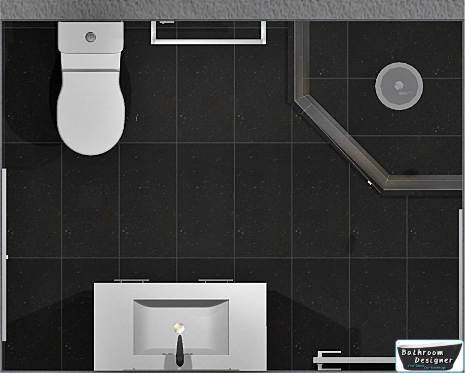 floor plan tiled bathroom