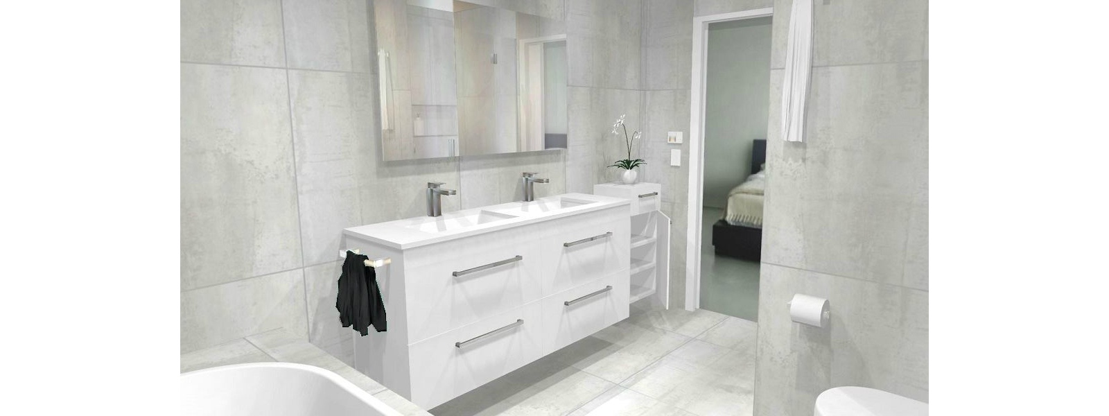 Bathroom designer we design your new bathroom for Bathroom direct nz