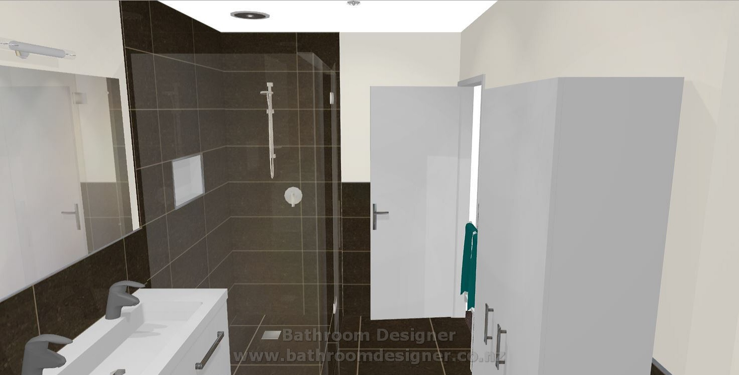 Bathroom Half Tiled Walls Shower